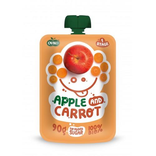 OVKO BIO kapsička -  100% jablko, karotka, 90g