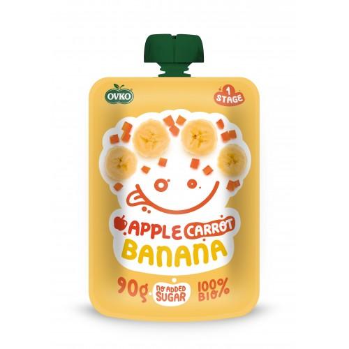OVKO BIO kapsička jablko, mrkva, banán 90g