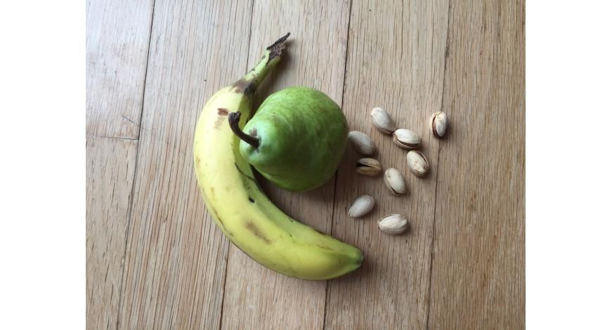 Smoothie banán&hruška s pistáciami a medom