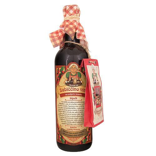 Babičkine maceračné víno 0,75l - šípkové (BC62304)