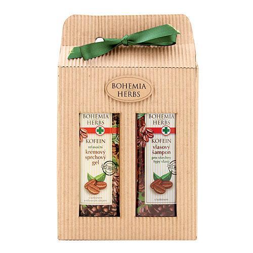 Kofeín, darčekové balenie: sprchový gél (250ml) + šampón (250ml)