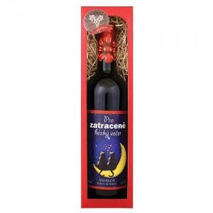 """Darčekové víno """"zatraceně hezký večer"""" - Merlot (0,75l)"""