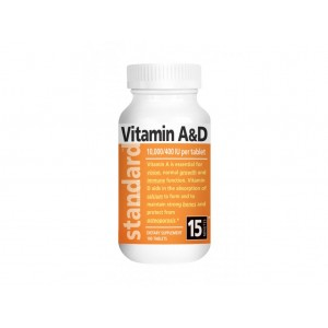 NATURAL - Vitamín A&D - 10 000/400 IU - 100 tabliet
