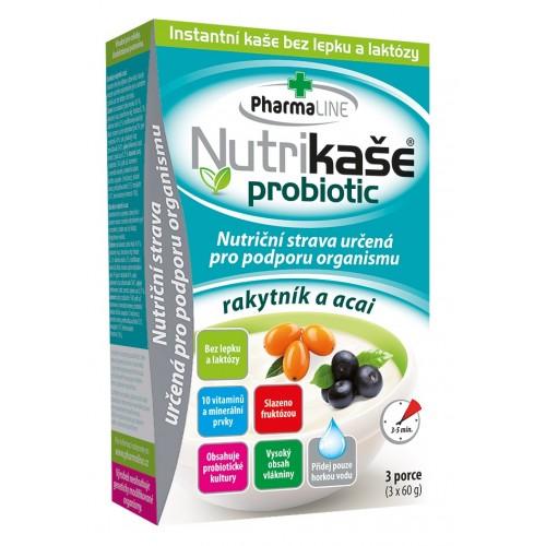 Nutrikaša probiotic rakytník a acai 3x60g