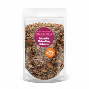 PURE NUTS granola - mandle, ostružiny, ríbezle, 350g