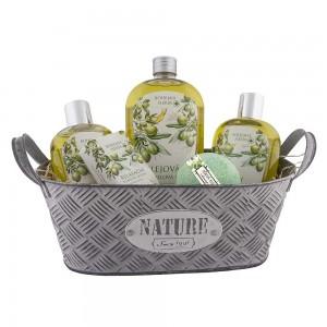 BOHEMIA plechový box s kozmetikou s olivovým olejom (BC200144)