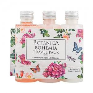 Botanica travel sprchový gél, šampón, mlieko - ruža (BC190037)