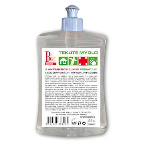 Tekúte mydlo s antimikrobiálnymi prísadami, 500ml (BC000231)