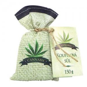 Konopná kúpeľová soľ v sáčku - cannabis, 150g (BC028017)
