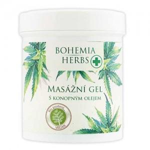 BOHEMIA Konopný masážný gél cannabis, 125ml (BC002335)