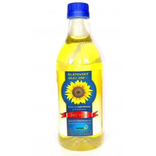 Slnečnicový olej, klátovský, bez vône, 1l - BušlákOil