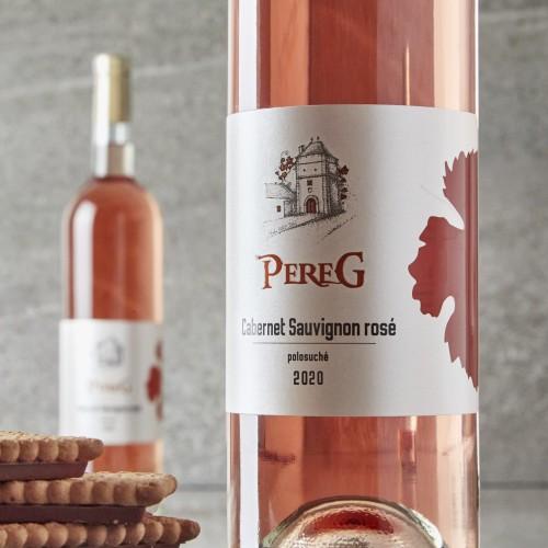 Pereg Cabernet Sauvignon rosé,`20 polosuché, 0,75l