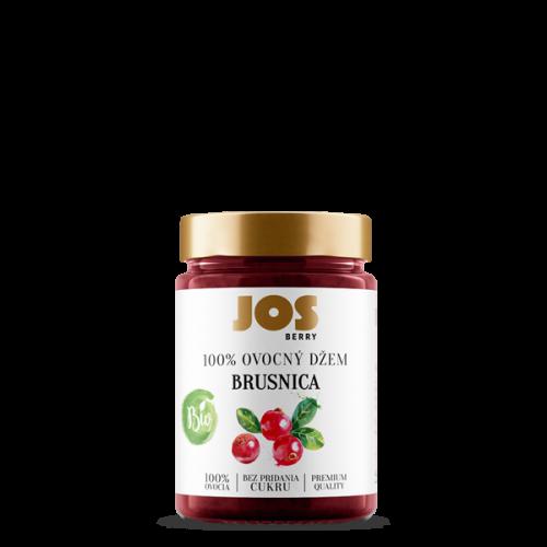 JOS Berry 100% BIO Brusnicový džem bez pridania cukru, 200g