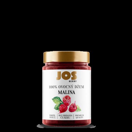 JOS Berry 100% Malinový džem bez pridania cukru, 200g