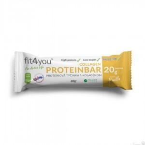 FIT4You Protein bar vanilka 60g tyčinka
