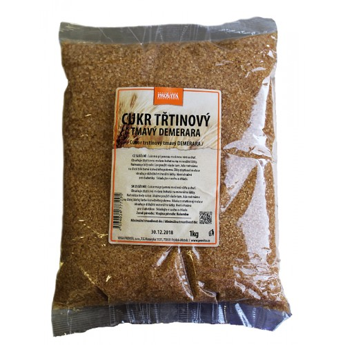 Trstinový cukor Demerara, tmavý, 1kg - Provita