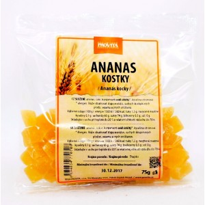 Ananásové kocky 75g - Provita