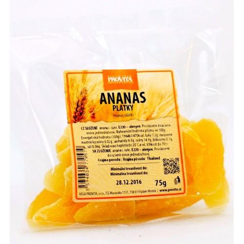 Ananásové plátky 75g - Provita