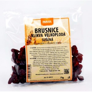Brusnice, sušené (75g) - Provita