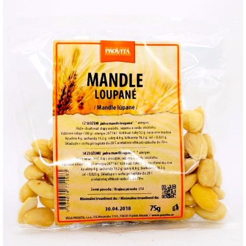 Mandle lúpané (75g) - Provita