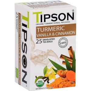 TIPSON BIO Turmeric & Vanilla Cinnamon 25x1,5g (5017)