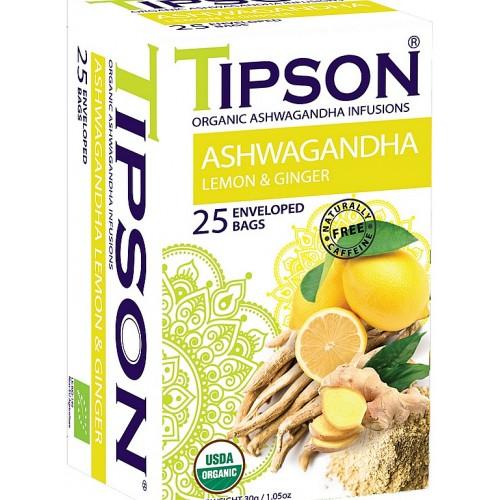TIPSON BIO Ashwagandha Lemon & Ginger, 25x1,2g (5081)