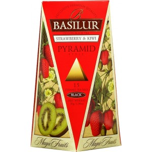 BASILUR Magic Strawberry & Kiwi Pyramid 15x2g (4750)