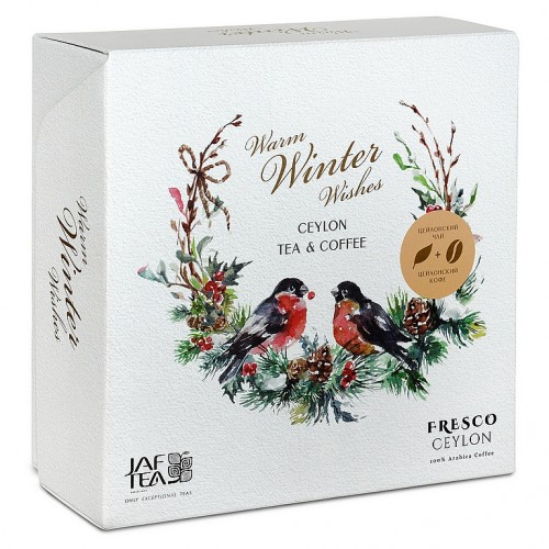 JAFTEA Box Warm Winter Wishes Tea & Coffee zrno 80g (2917)