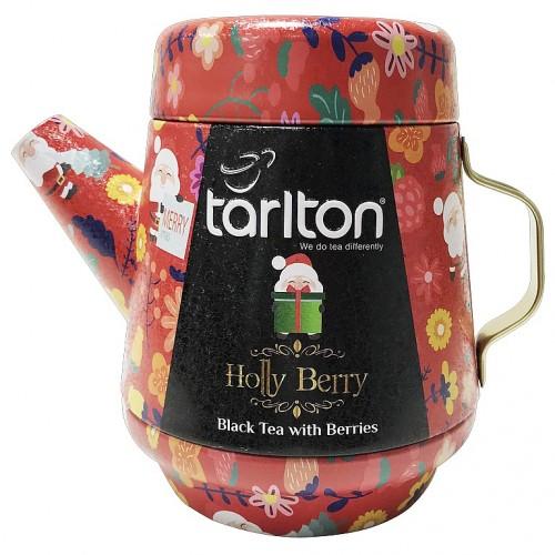 TARLTON Tea Pot Holly Berry Black Tea plech, 100g (7085)