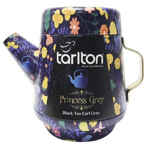 TARLTON Tea Pot Princess Grey Black Tea plech, 100g (7086)