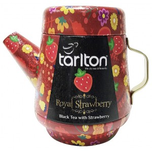 TARLTON Tea Pot Royal Strawberry Black Tea plech, 100g (7087)