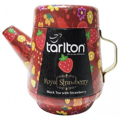TARLTON Tea Pot Royal Strawberry Black Tea plech, 100g (7087)
