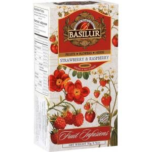 BASILUR Fruit Strawberry & Raspberry 25x2g (7328)