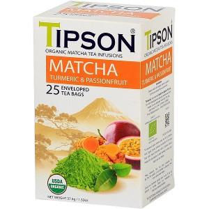 TIPSON BIO Matcha Turmeric & Passion Fruit 25x1,5g (5071)
