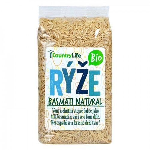 COUNTRY LIFE BIO ryža BASMATI natural, 500g