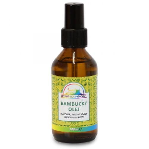 Bambucký olej 99,4% na tvár, telo a vlasy (100ml)