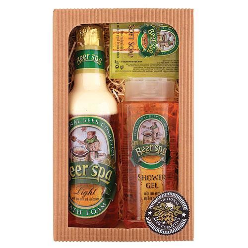 BEER SPA: sprchový gél (250ml), pena (500ml), mydlo (70g) - (802602)