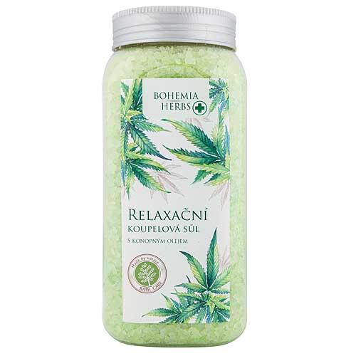 Konopná kúpeľová soľ, cannabis, 900g (BC000285)