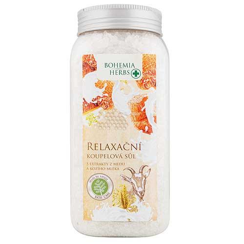 Bohemia Herbs soľ do kúpeľa, med a kozie mlieko, 900g (BC044004)
