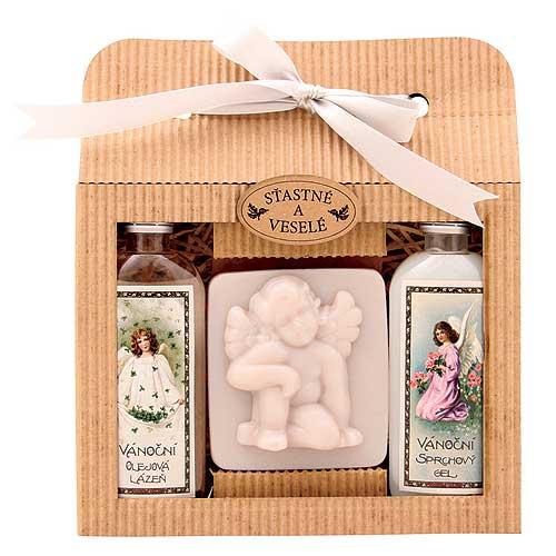 Bohemia Gifts Vianočná sada gél, mydlo, olejový kúpeľ (BC126048)