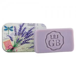 Toaletné mydlo v plechovej krabičke - levanduľa, 80g (BC190171)