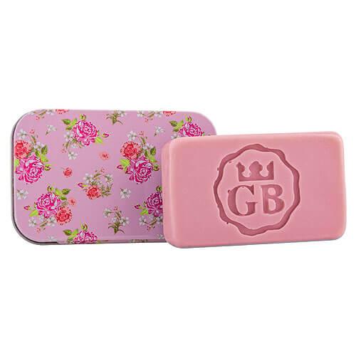 Toaletné mydlo v plechovej krabičke - ruža, 80g (BC190175)