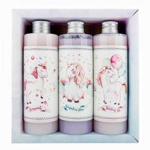 Sada pre dievčatá - jednorožec (3x250ml) gél, šampón, pena (BC190147)