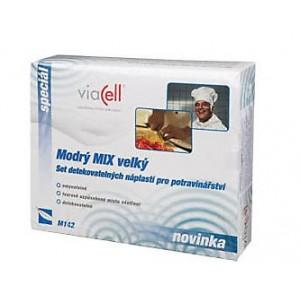 Viacell set detekovateľných náplastí, modrý mix veľký 120ks (M142)