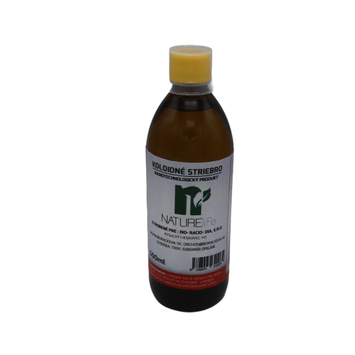 Koloidné striebro 20 ppm, 500ml