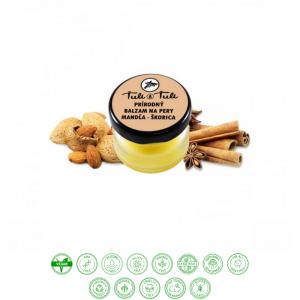 Prírodný balzam na pery mandľa - škorica (20ml) - Ťuli a Ťuli