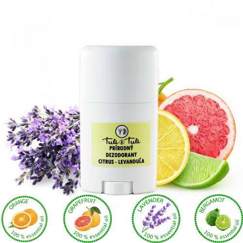 Prírodný dezodorant citrus a levanduľa (70ml) - Ťuli a Ťuli
