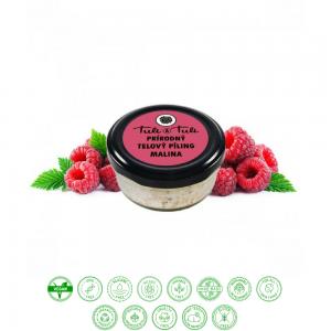 Prírodný telový píling malina (50ml) - Ťuli a Ťuli