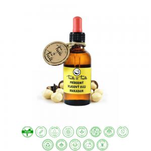 Prírodný vlasový olej makadam (50ml) - Ťuli a Ťuli