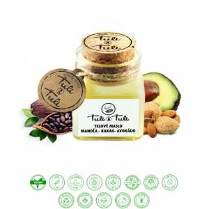 Prírodné telové maslo kakao - mandľa - avokádo (100ml) - Ťuli a Ťuli